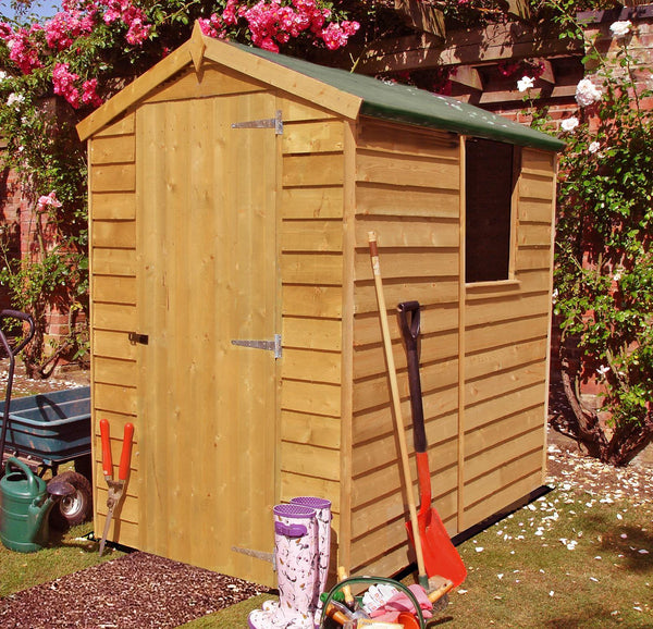 6'x4' Single Door Overlap Shed