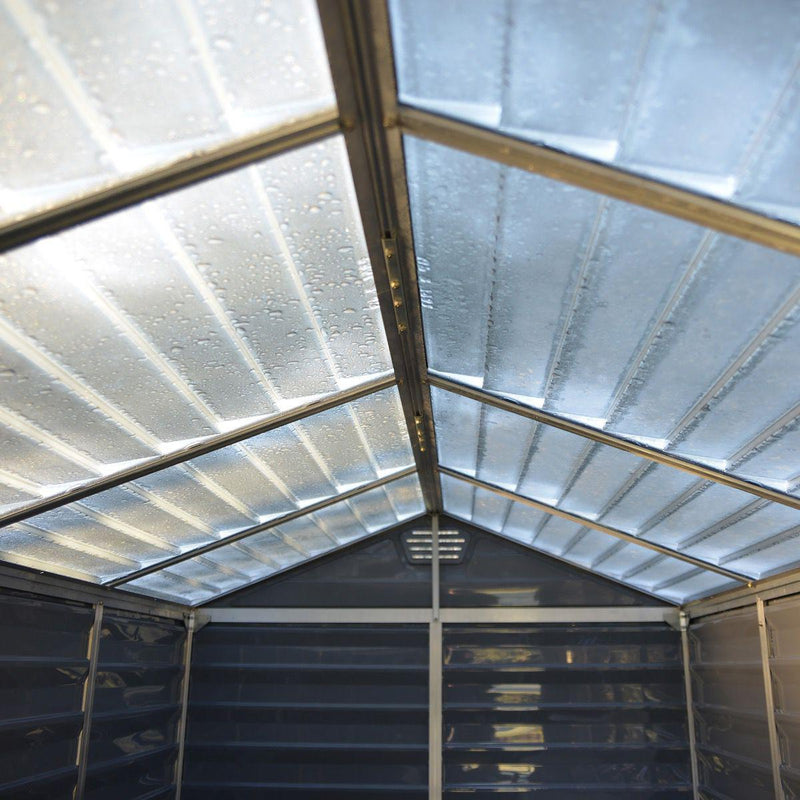 Palram 6'x10' Skylight Deco Apex Shed