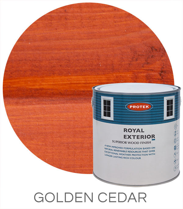 Protek Royal Exterior Finish - Golden Cedar