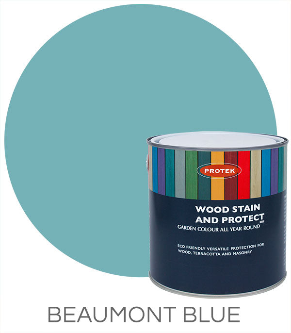 Protek Wood Stain & Protect - Beaumont Blue