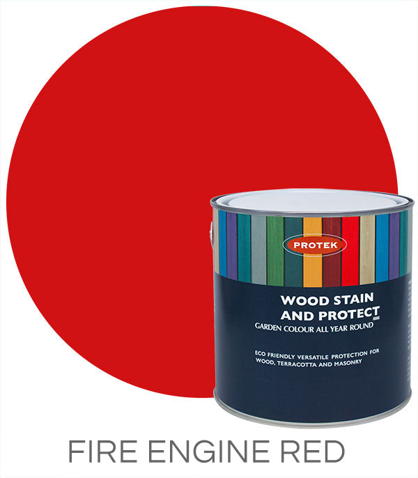 Protek Wood Stain & Protect - Fire Engine Red