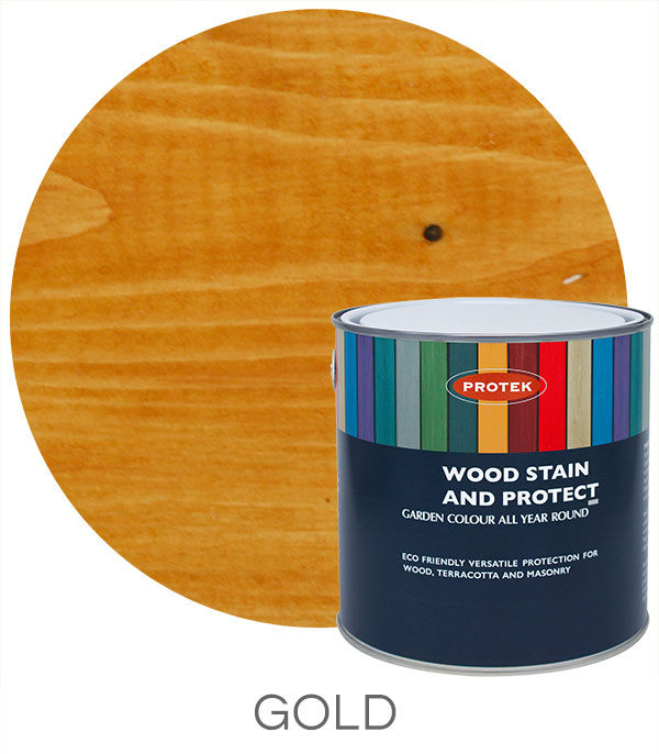 Protek Wood Stain & Protect - Gold