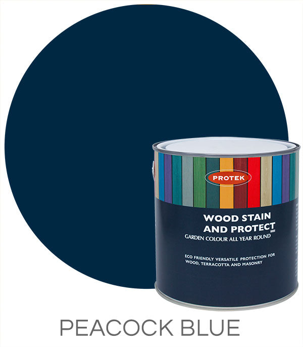 Protek Wood Stain & Protect - Peacock Blue