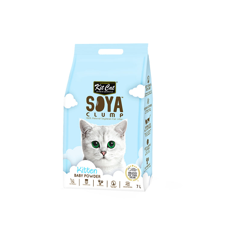 Kit Cat Soya Clump Soybean Litter- Kitten Baby Powder - 3Kg