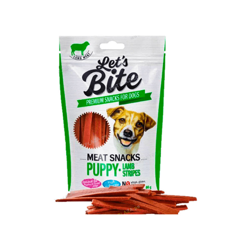 Brit – Let's Bite Meat Snacks Puppy Lamb Stripes 80 gr