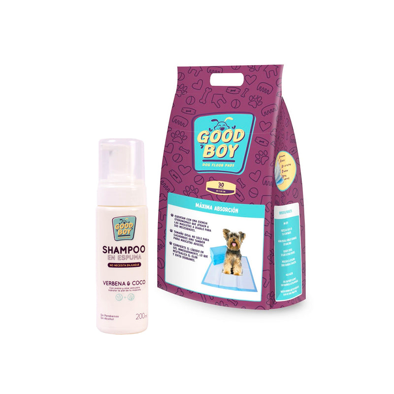 Pack Puppy Good Boy (Pads x 30 Und. + Shampoo)