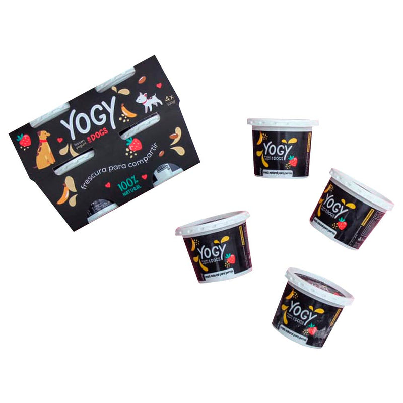 Barker - Yogy Four pack -Helado de Yogurt Natural para perros