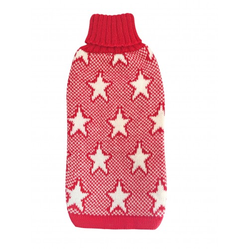 Hot Dogz Sweater Estrella Roja Talla XL
