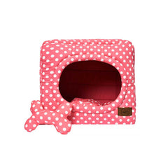 Smart Pet Cama Cubo 2 en1 Coral - Talla Small