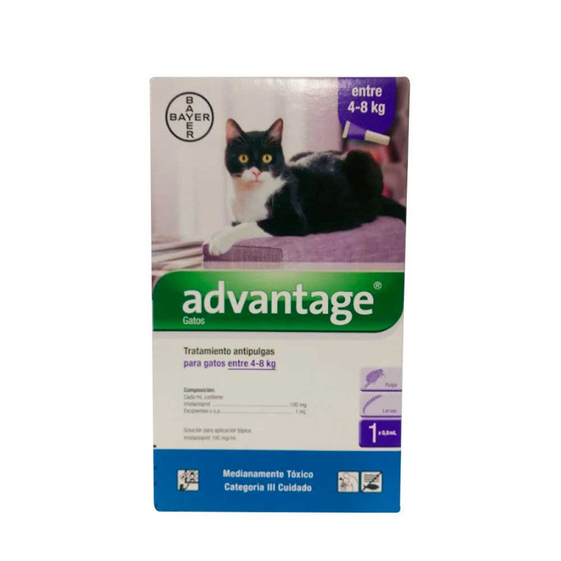 Advantage – Pipeta Antipulgas Gatos 4-8 Kg