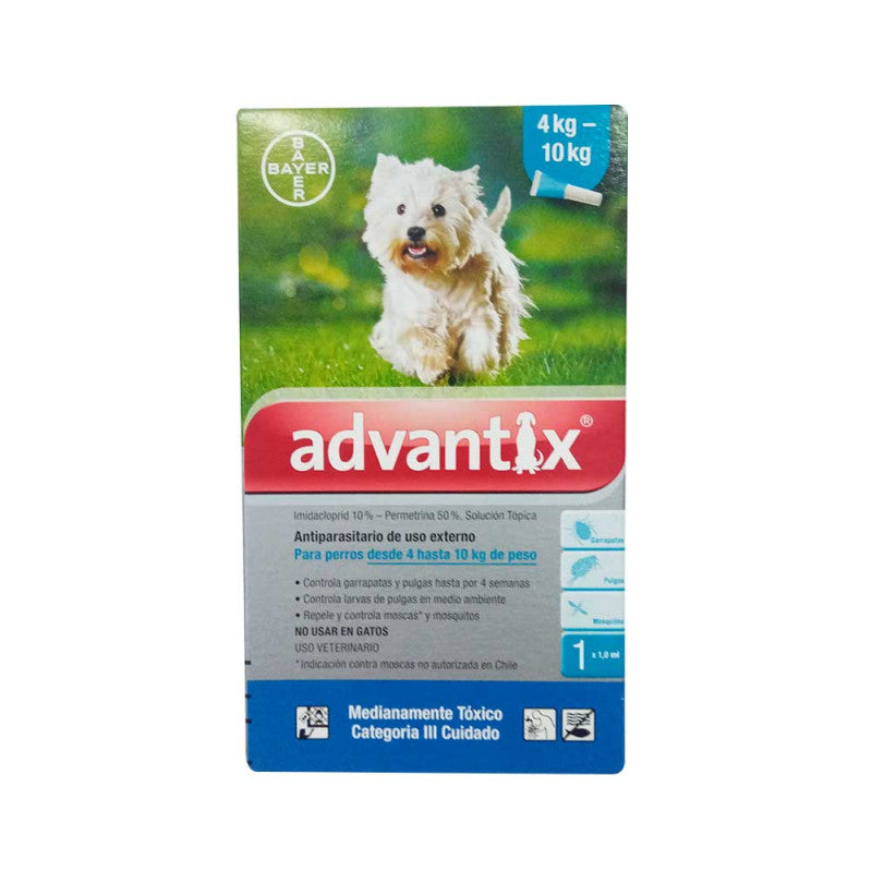 Advantix – Pipeta Antipulgas Perros4 - 10 kg