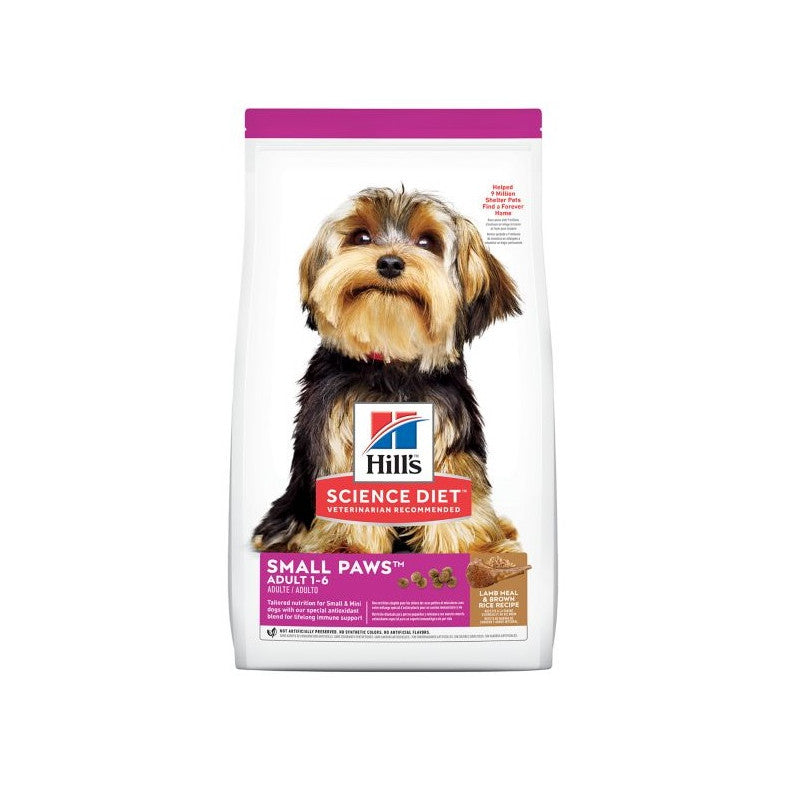 Hills SD Adult L&R Small & Paws - Adultos razas pequenas y miniaturas de cordero y arroz