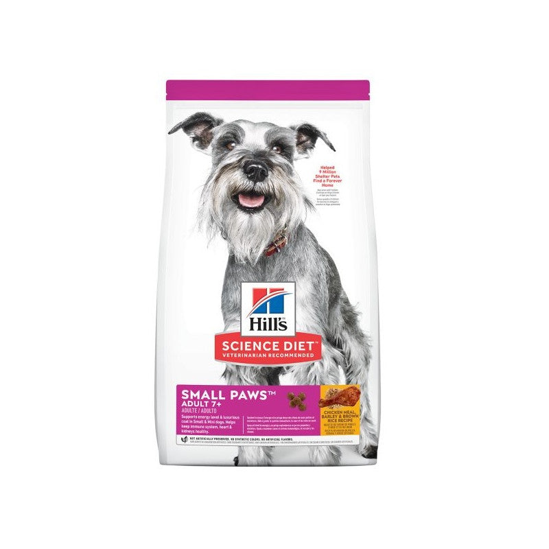 Hills SD Adult 7+ Small & Paws - Adulto mayor - Raza pequena