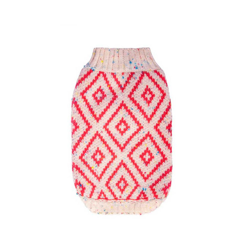 Hot Dogz Sweater Rombo Coral Talla S