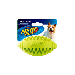 Nerf Dog Teether Football Small 3.25´´ Red/ Green