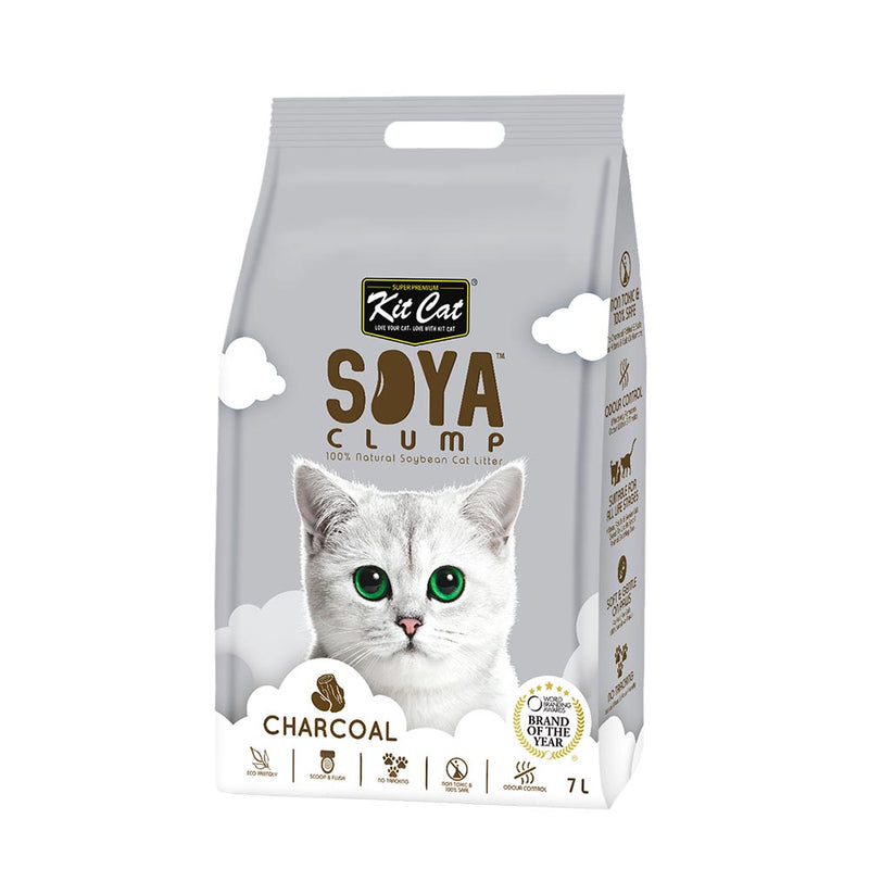 Kit Cat Soya Clump Soybean Litter - Charcoal -3kg