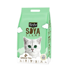 Kit Cat Soya Clump Soybean Litter - Green Tea - 3kg