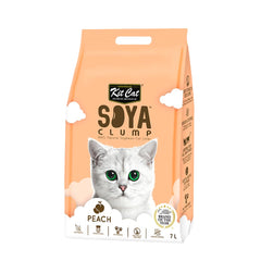 Kit Cat Soya Clump Soybean Litter - Peach -3kg