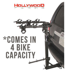 "Hollywood Racks Road Runner 4 Bike Rack for 2"" and 1.25"" Hitch"