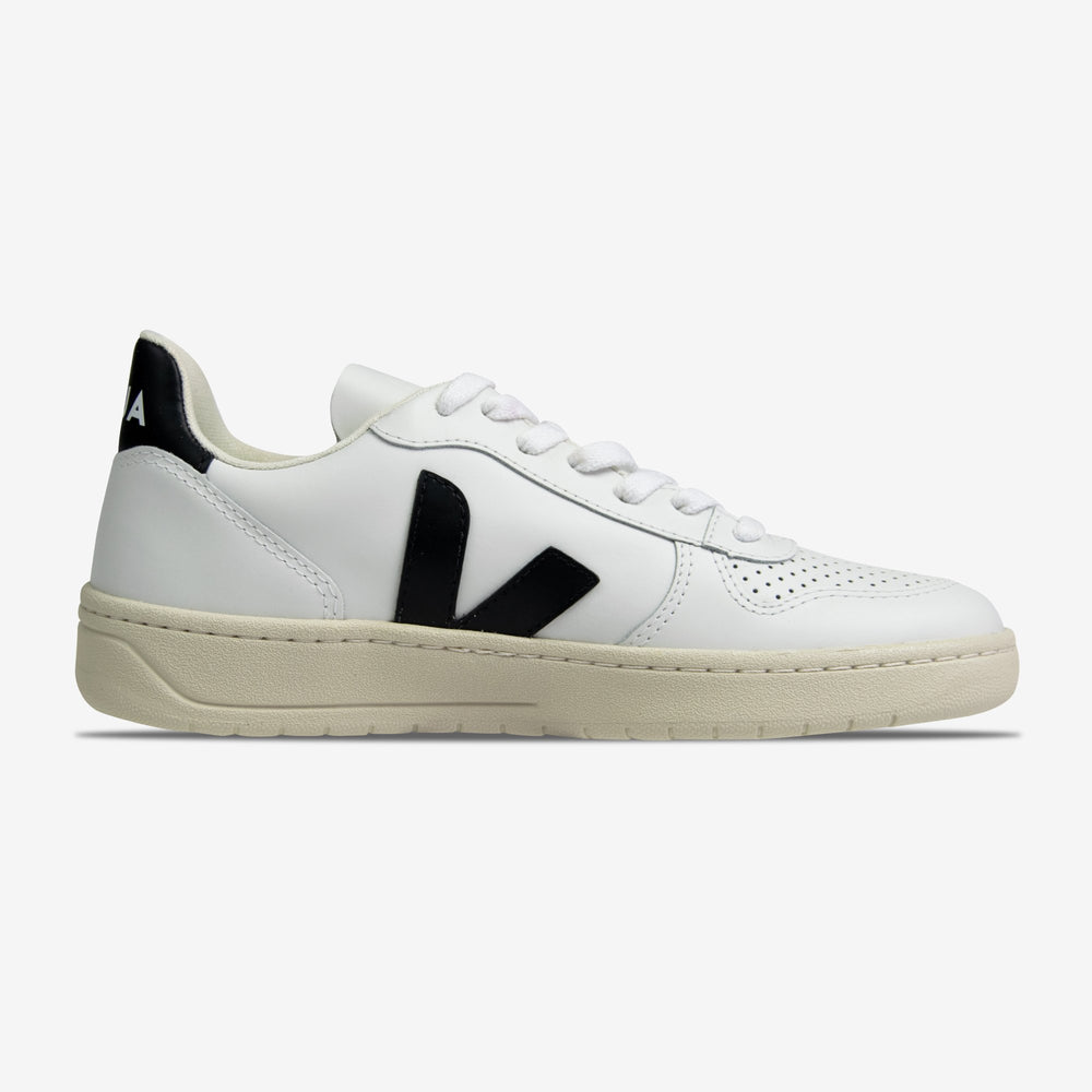 Veja-Women's V-10  Leather-Extra White-Black-VX020005A