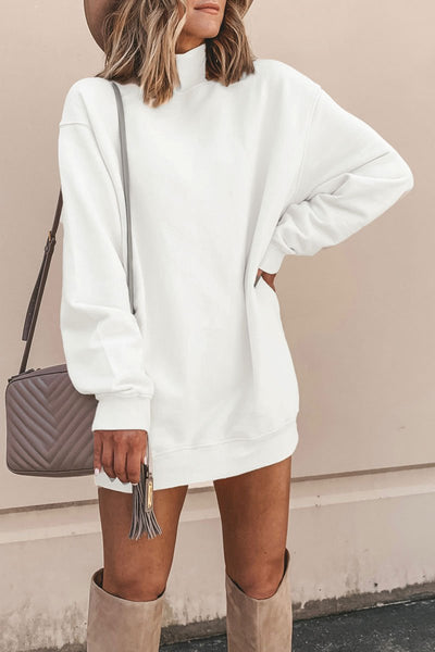 Kilalagril Turtleneck Long Sleeve Mini Dress
