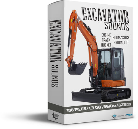 Excavator Sounds - Mechanical Wave - Sound Effects Library