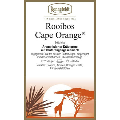 Rooibos Cape Orange® Etikett