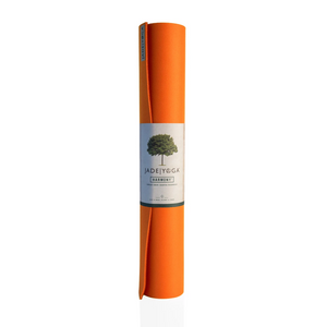 "Harmony Yoga Mat 68"" - Orange - JadeYoga Singapore"