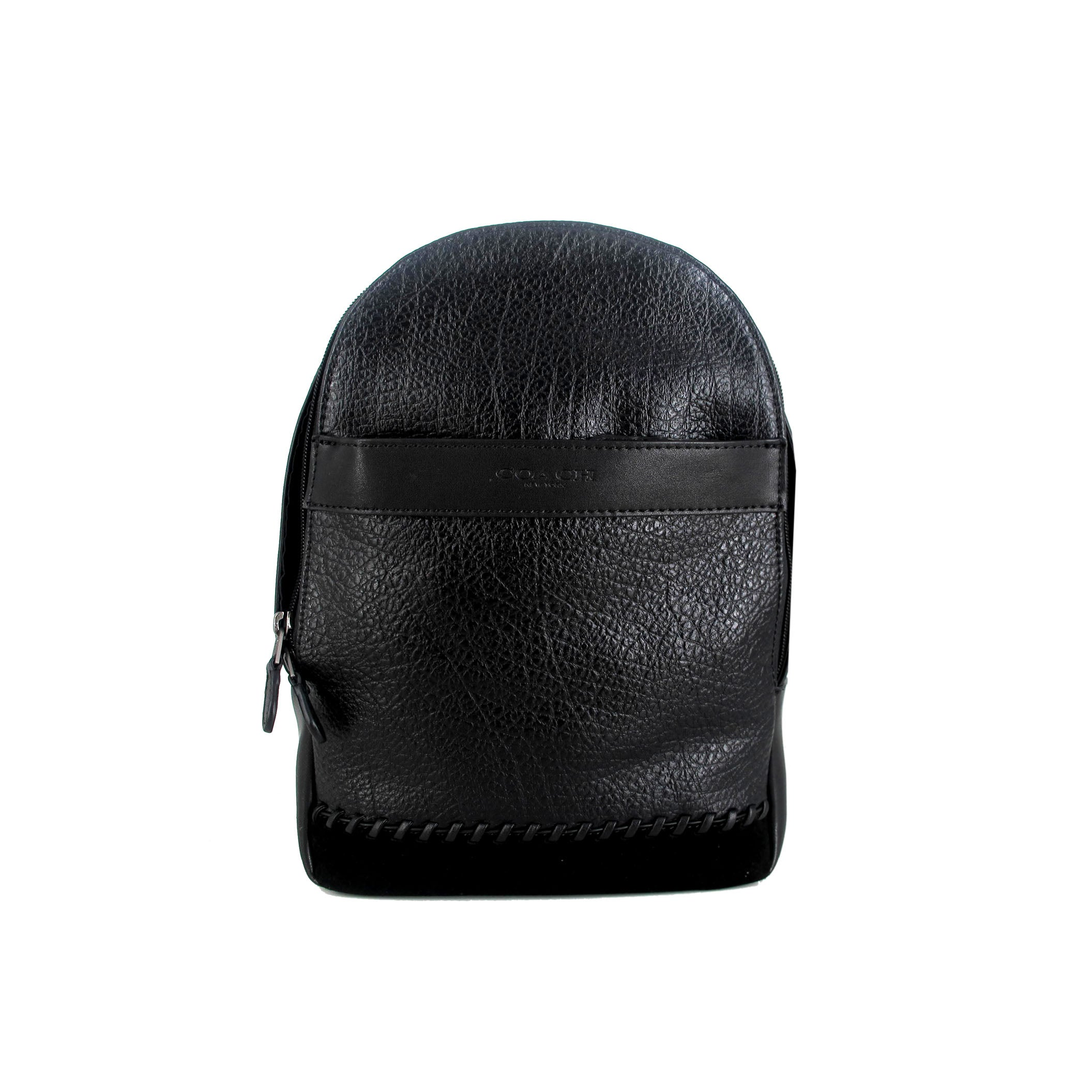 Charles Textured Leather Sling Backpack