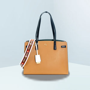 Walker Color-Block Satchel Bag
