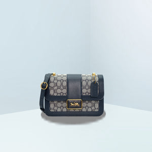 Alie In Signature Jacquard With Snakeskin Details Convertible Bag