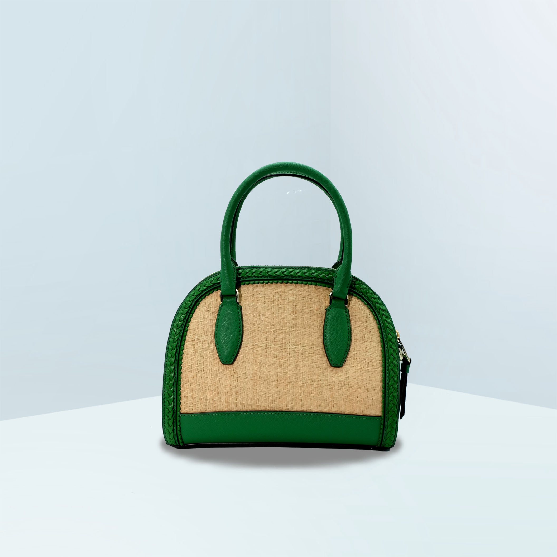 Reiley Straw Medium Dome Satchel Bag