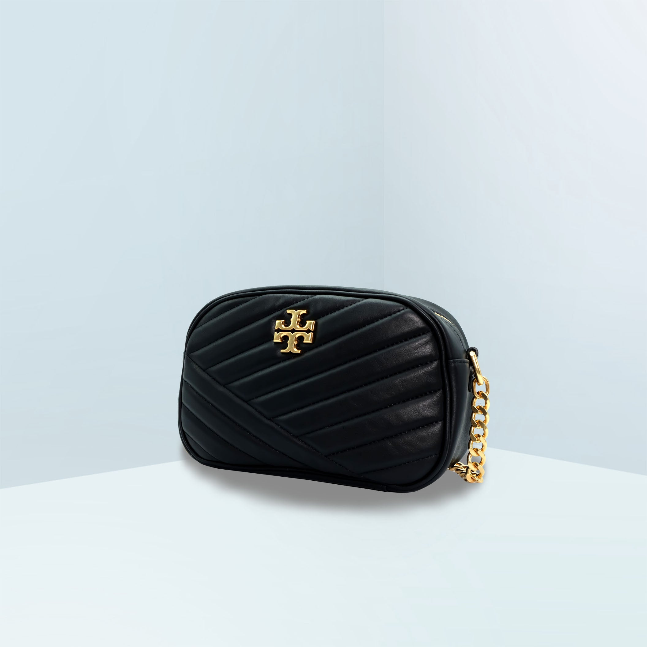 Kira Chevron Camera Crossbody Bag