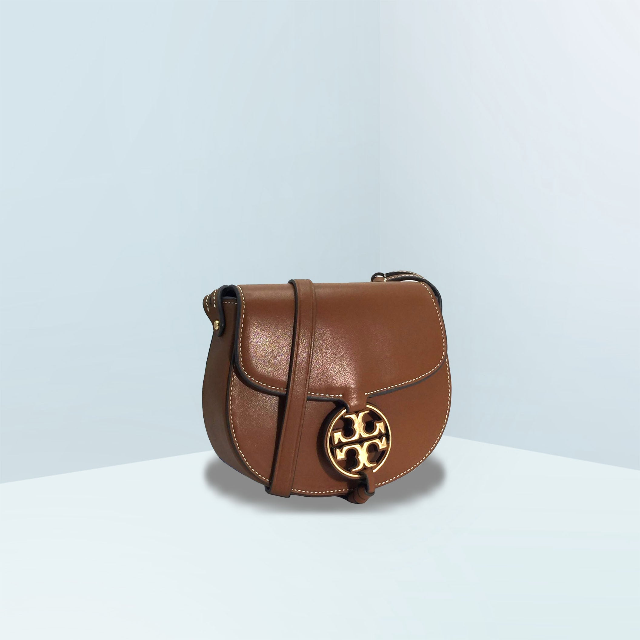 Miller Metal-Logo Saddle Crossbody Bag