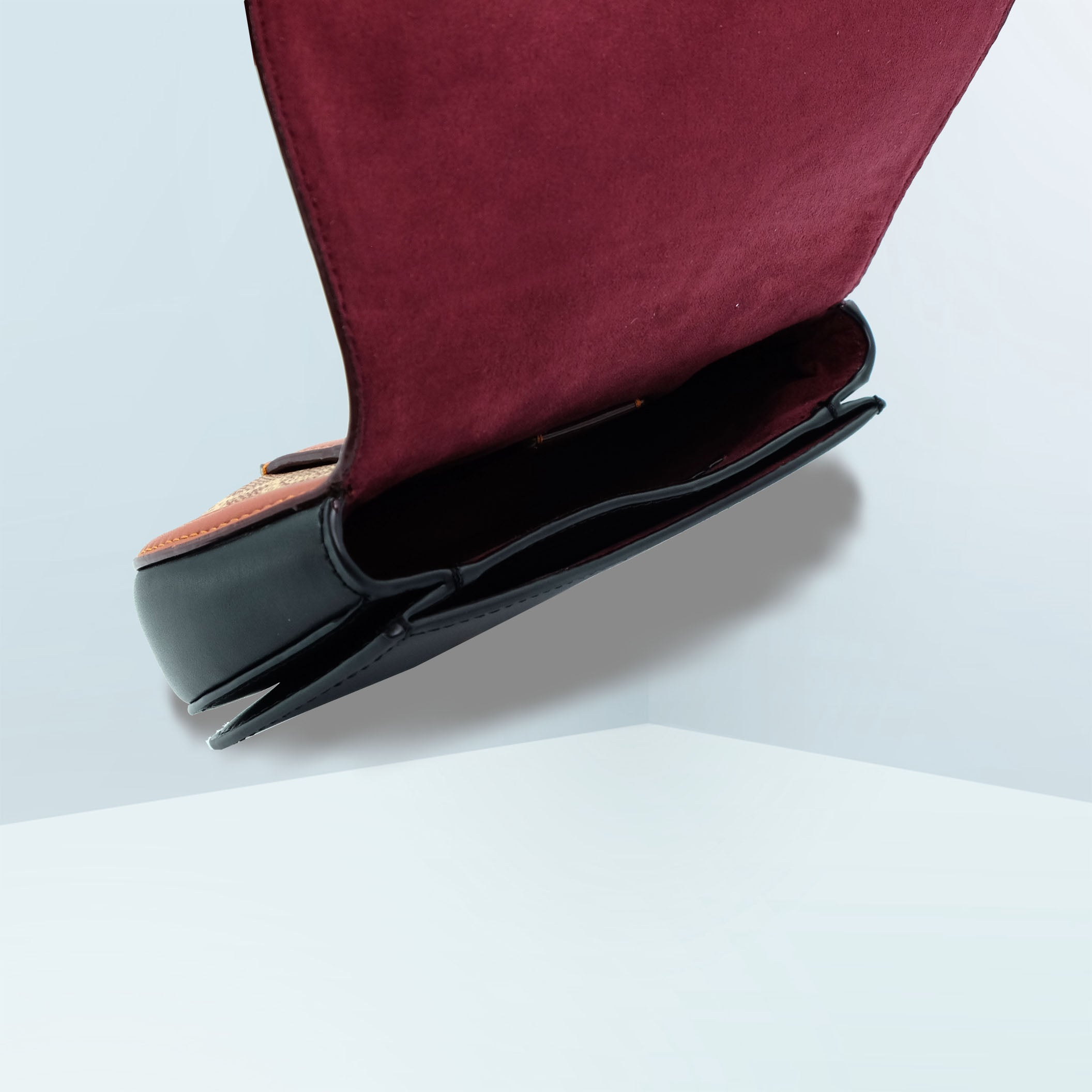 Saddle In Colorblock Signature Canvas Belt Bag