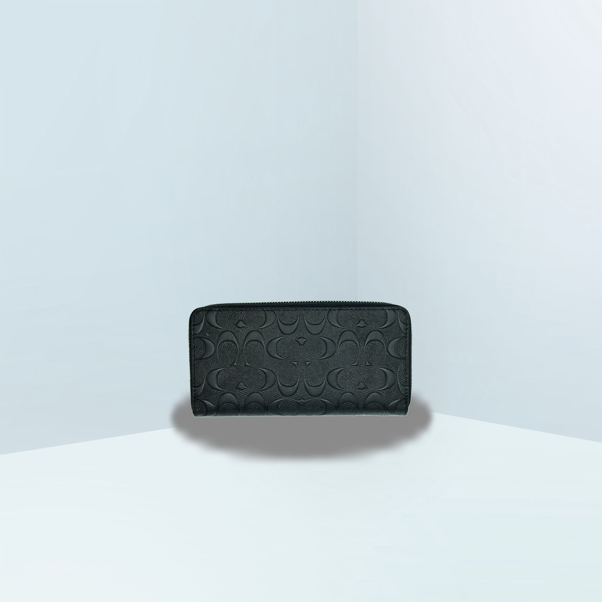 Accordion In Signature Embossed Zip Continental Wallet
