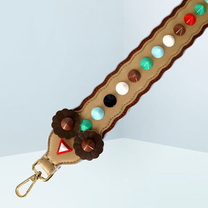 Two-tone Spike Embellished Strap
