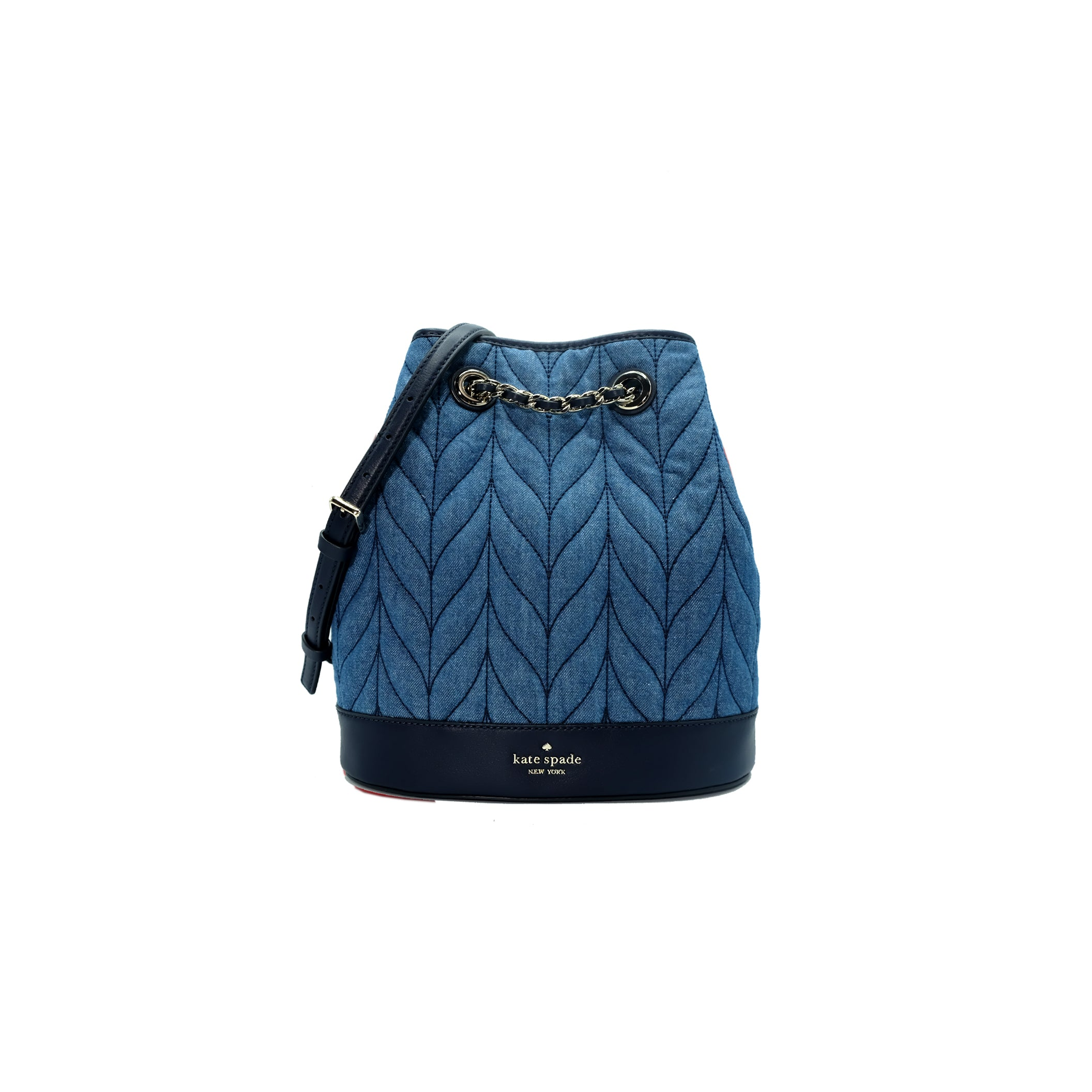 Briar Lane Quilted Denim Bucket Backpack
