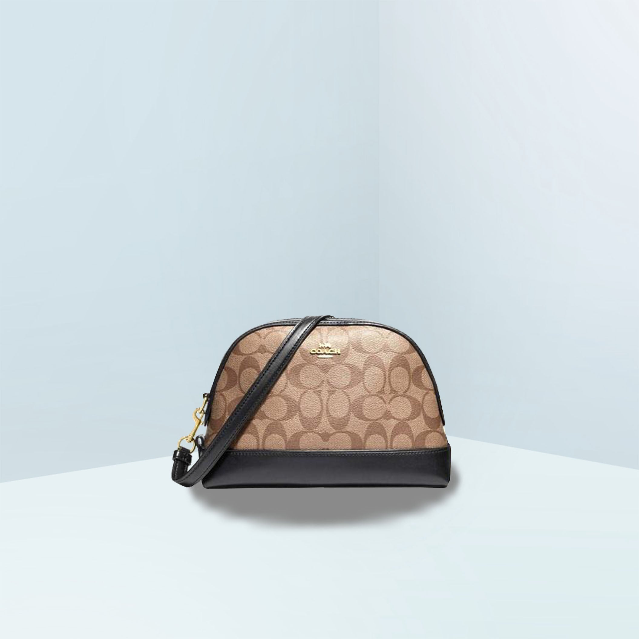 Dome In Signature Canvas Crossbody Bag