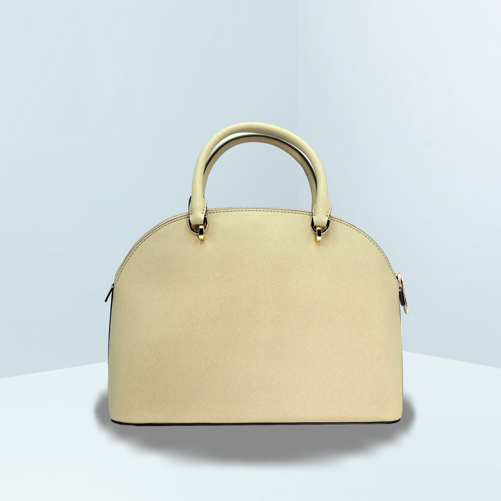 Emmy Large Bisque Dome Satchel Bag