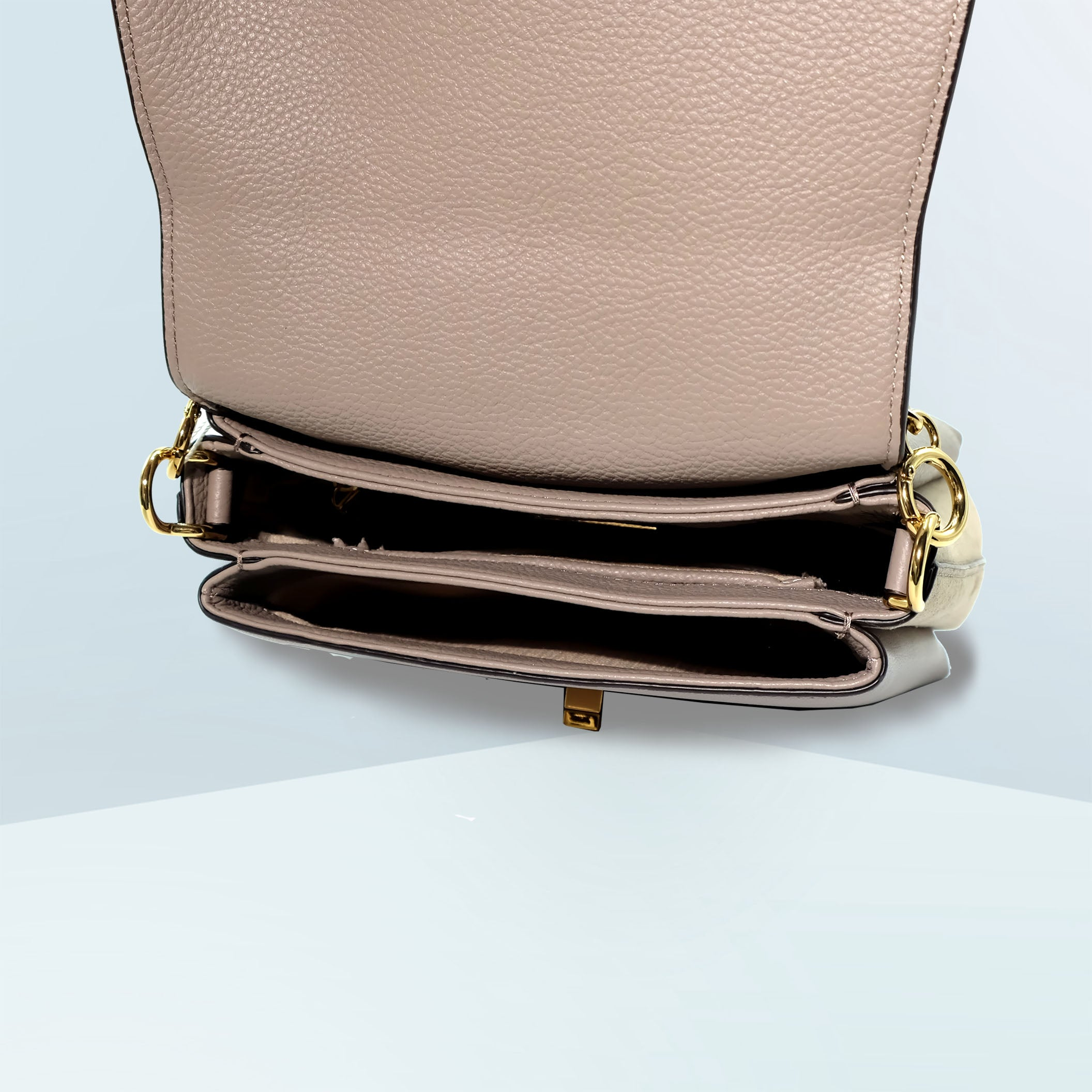Kira Mixed Material Small Top Handle Bag