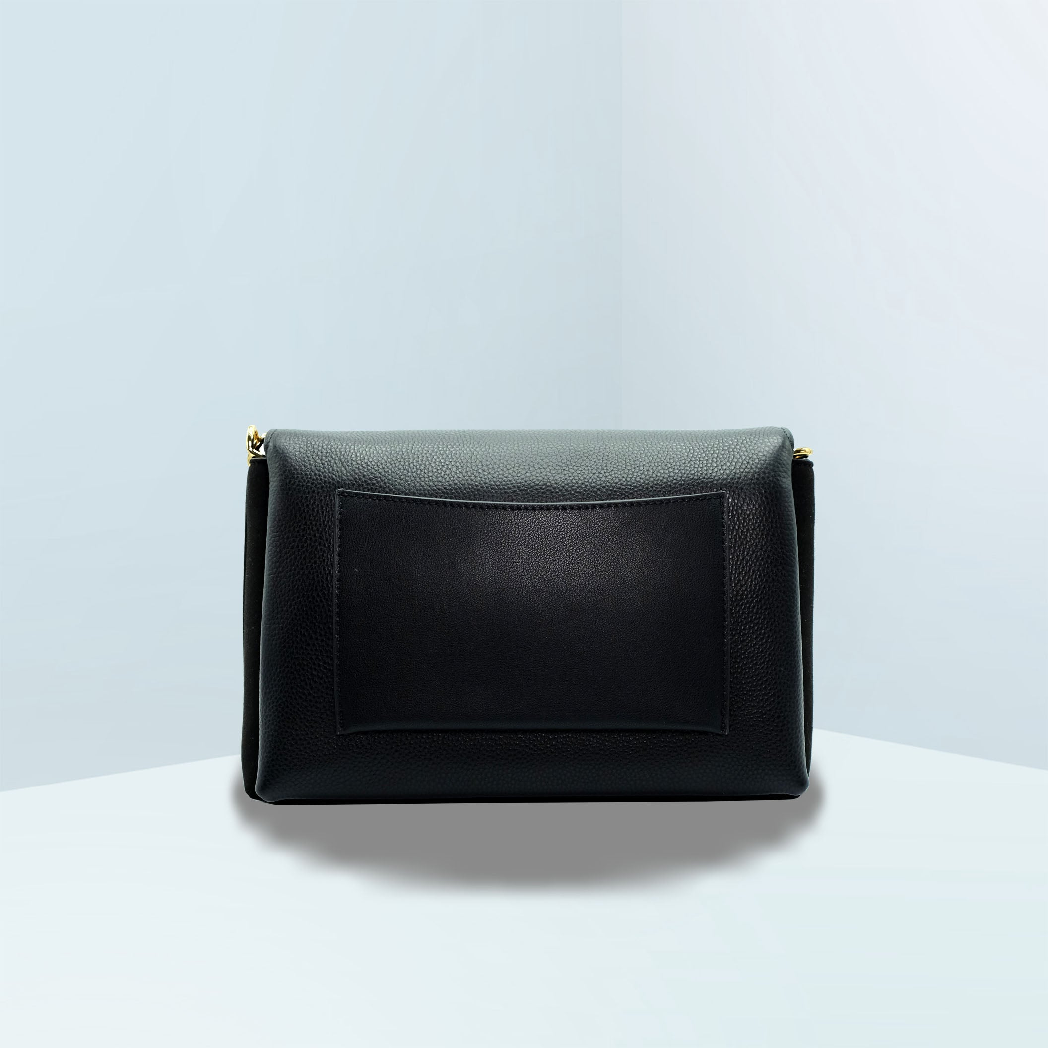 Kira Mixed-Materials Double-Strap Shoulder Bag
