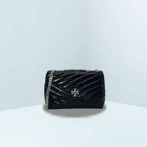 Kira Chevron Distressed Small Convertible Crossbody Bag