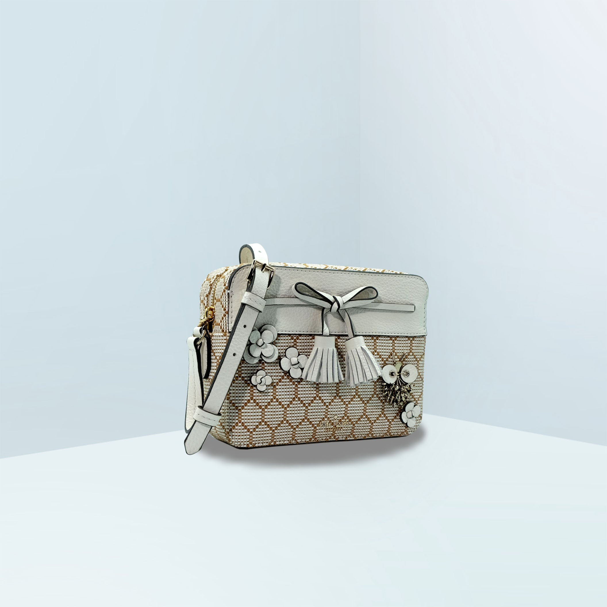 Hayes Bee Embellished Camera Crossbody Bag