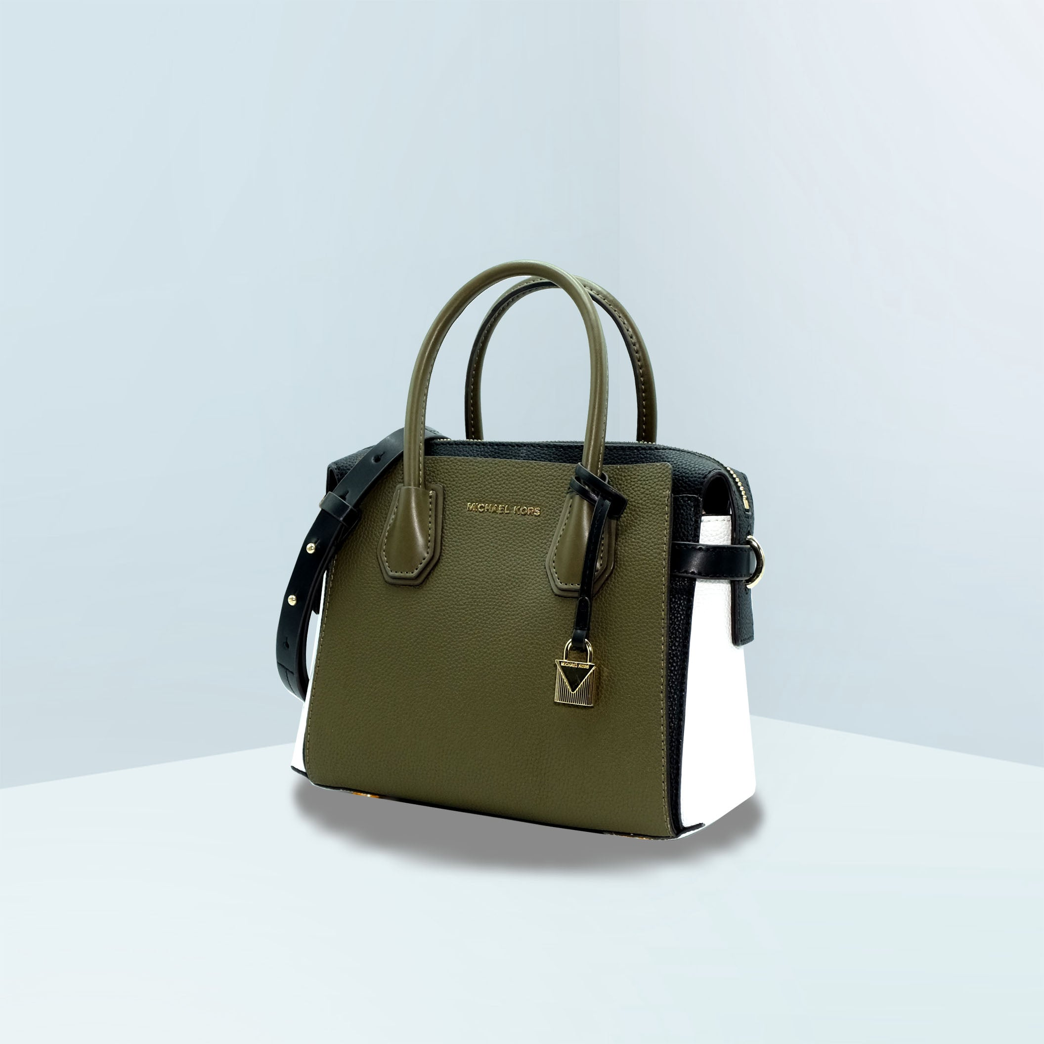 Mercer Belted Small Leather Satchel
