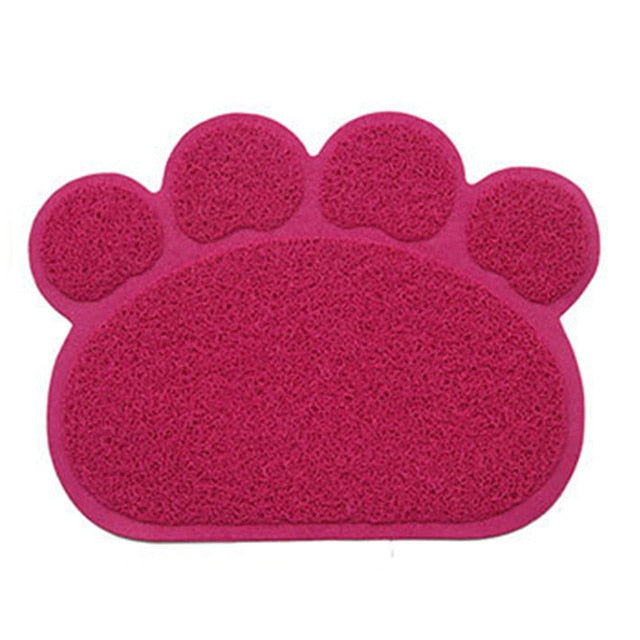 Cute Paw PVC Pet Dog Cat Feeding Mat Pad Pet Dish Bowl Food Water Feed Placemat Puppy Bed Blanket Table Mat Easy Wipe Cleaning - Petgo Wholesale