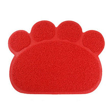 Load image into Gallery viewer, Cute Paw PVC Pet Dog Cat Feeding Mat Pad Pet Dish Bowl Food Water Feed Placemat Puppy Bed Blanket Table Mat Easy Wipe Cleaning - Petgo Wholesale