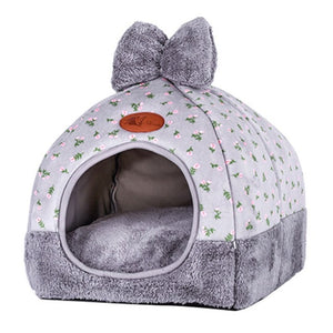 Small Pet Dog House Kennel Bed Mat Cat Blanket Pets Tent Unfolding To Be Thicken Winter Pet Beds Mattress Flannel Fabric Warm - Petgo Wholesale