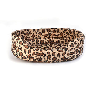 Novelty Bone Prints Pet Beds for the large Dogs Mats Warm Leopard Pattern Kennels For Small Medium Cats Puppy Houses - Petgo Wholesale