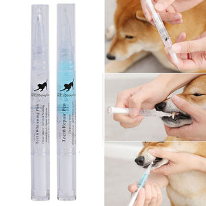 3/5ml Pets Dog Grooming Whitening Pen Teeth Cleaning Pen Dogs Cats Natural Plants Tartar Remover Tool Suitable for All Pets - Petgo Wholesale